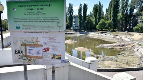 Озеро на Минской в Воронеже не заполняют из-за прохудившегося основания
