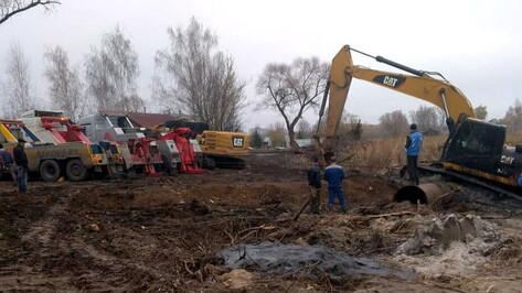 Полумиллионный штраф получила компания за утопленный под Воронежем экскаватор