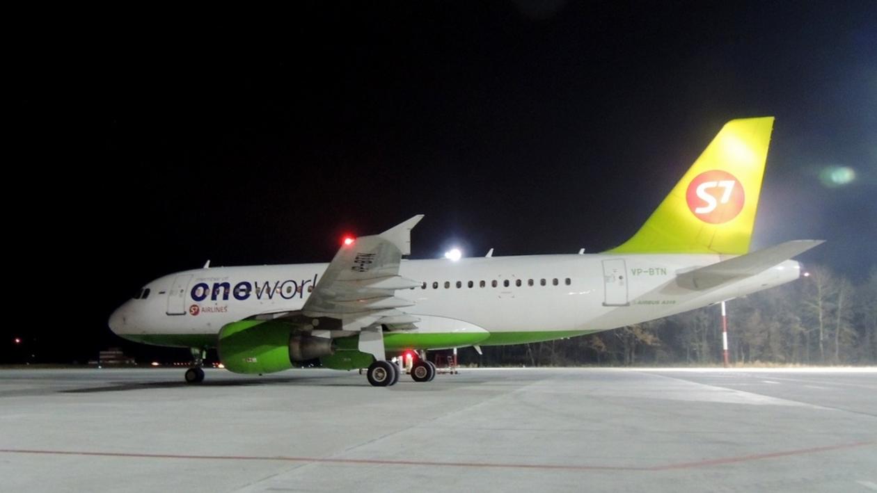 Воронежский аэропорт принял первый московский рейс авиакомпании S7