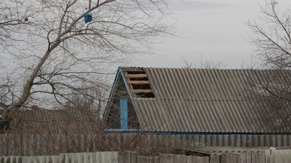 В Новохоперском районе сильный ветер сорвал обшивку с домов и переломал деревья