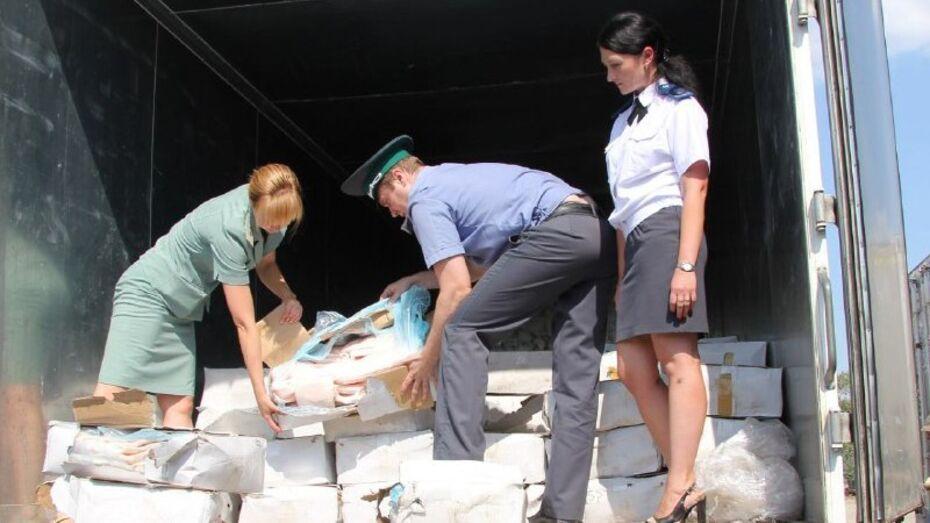 Воронежские таможенники уничтожили «КамАЗ» контрабандного сала из Украины