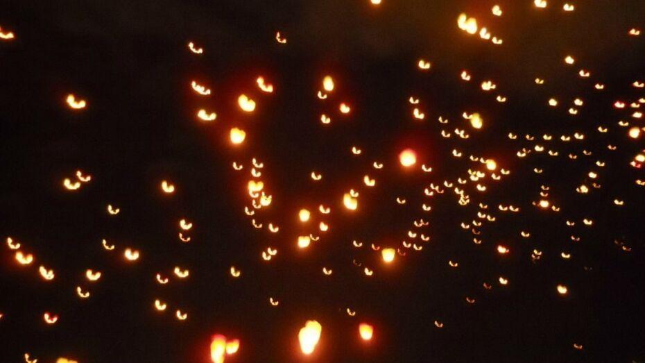 В честь миллионного жителя воронежцы запустят небесные фонарики