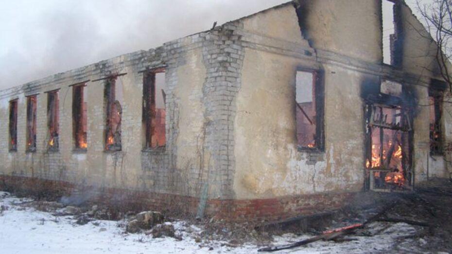 В Нижнедевицком районе дотла сгорела столярная мастерская