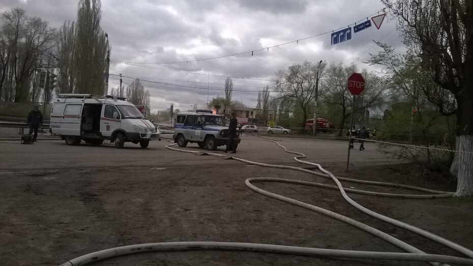 В Воронеже человек пострадал при пожаре на газовой заправке