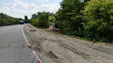 В Воронежской области водитель на ходу выпрыгнул из кабины грузовика и погиб
