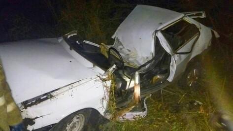 В Воронежской области ВАЗ сбил мужчину и врезался в столб: водитель погиб