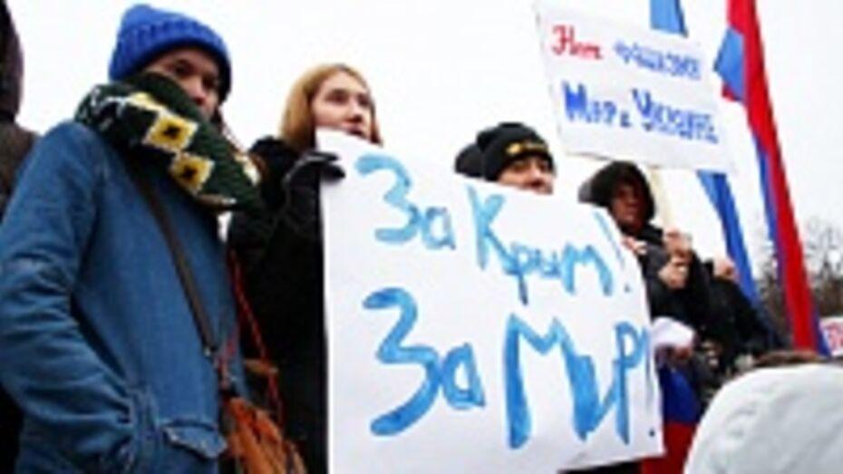 Полиция: в митинге в поддержку народа Украины приняли участие 8 тыс воронежцев