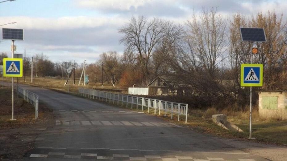 В Калачеевском районе в 2-х селах у школ оборудуют пешеходные переходы
