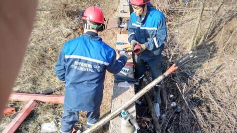 В Воронеже восстановили энергоснабжение микрорайона, оставшегося без света из-за костра
