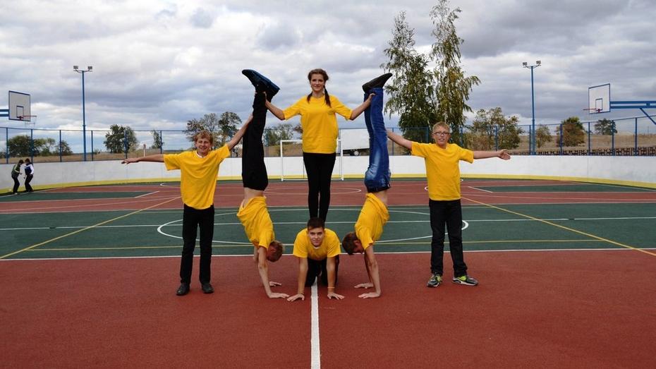 В Лискинском районе открыли 6 многофункциональную спортивную площадку