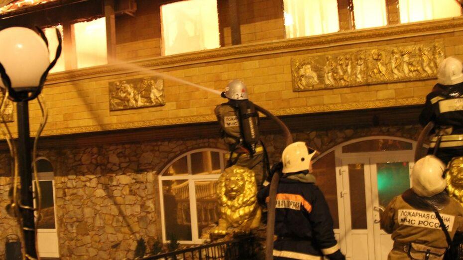 Гостиничный комплекс в Воронеже потушили 18 спасателей