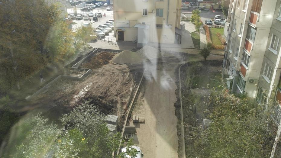 Управа прокомментировала «нарушения» при укладке асфальта в воронежском дворе