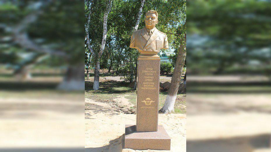 В Петропавловке установили бюст Герою Советского Союза Василию Маргелову