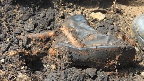 На стройке в Воронеже нашли останки двоих красноармейцев