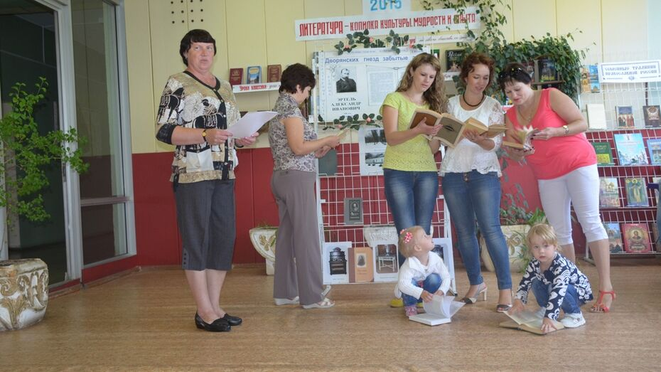 В верхнехавской библиотеке прошла посвященная творчеству писателя Эртеля выставка