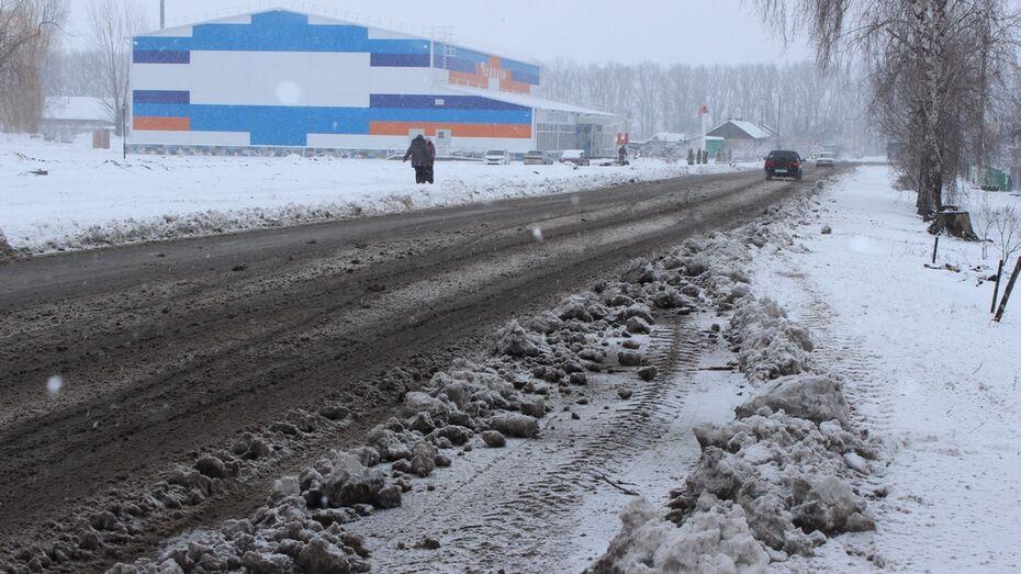 В Терновском районе за ночь выпало более 10 см снега