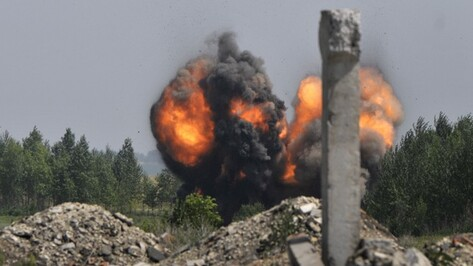 Под Воронежем уничтожили авиабомбу и артиллерийские снаряды времен Великой Отечественной