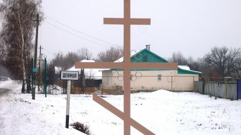 В острогожском селе Девица установили поклонный крест