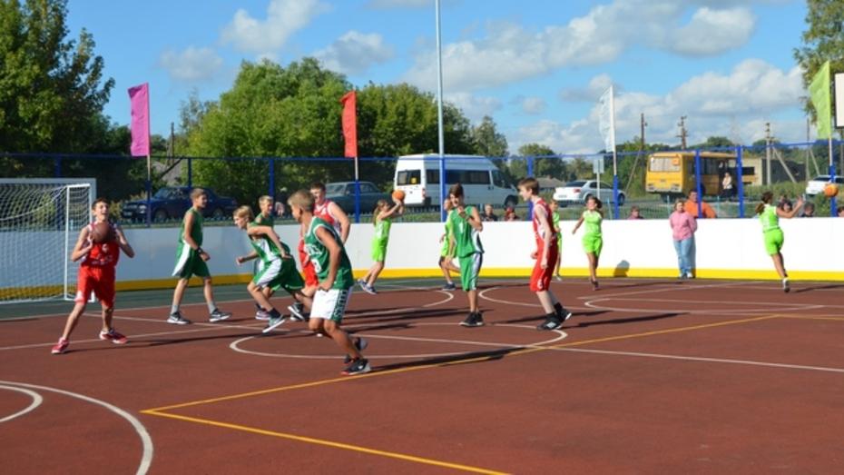 В Семилукском районе открылись сразу две многофункциональные спортивные площадки