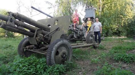В Хохольский район привезли из Москвы противотанковые пушки