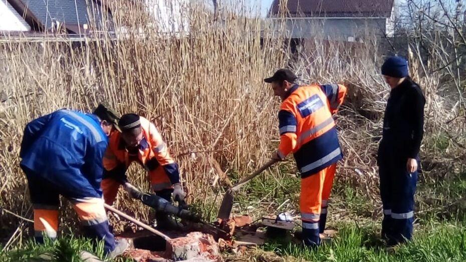 В воронежской Масловке наладят работу системы водоотведения