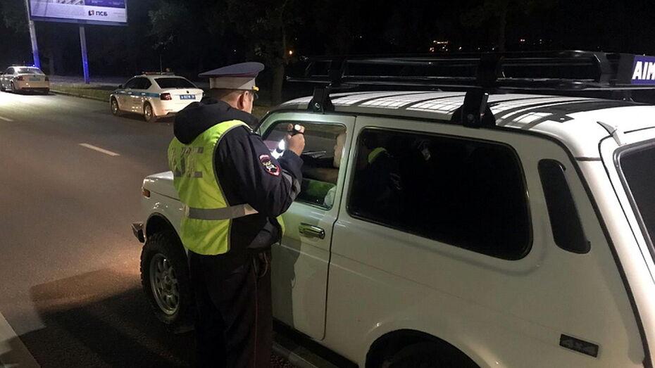 В ходе сплошных проверок в Воронеже инспекторам попались 15 пьяных водителей