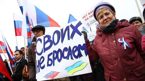 Воронежцы призвали российские власти помочь братскому народу Украины