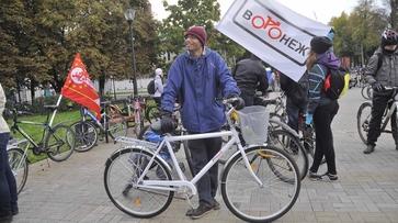 Студенты-европейцы поприветствовали участников фестиваля «ВелоВоронеж»