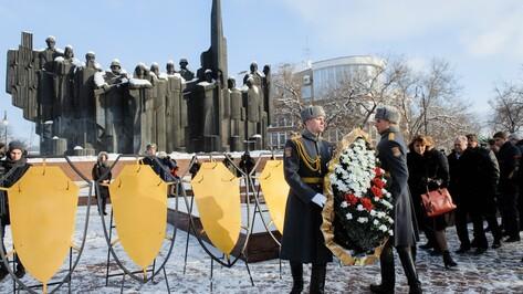 В Воронеже почтили память погибших в боях за освобождение города от фашистских захватчиков