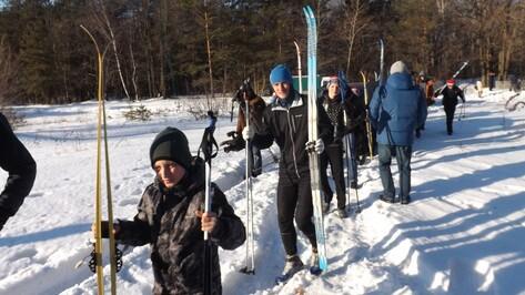 Рамонские кадеты совершили 30-километровый лыжный поход по местам боевой славы