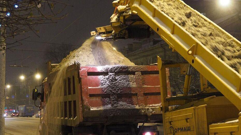 Воронежские коммунальщики привлекли 46 самосвалов для ночной уборки города
