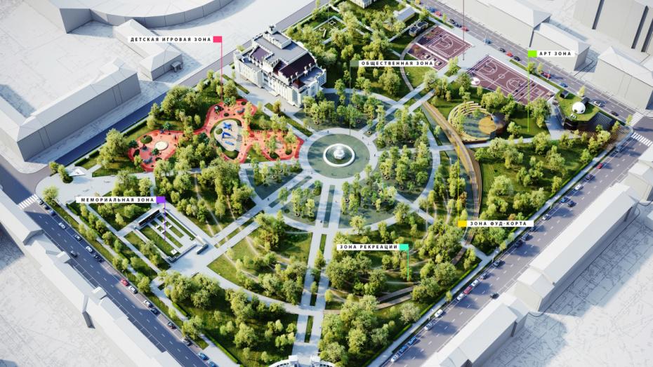 В Воронеже выбрали подрядчика для создания проекта благоустройства парка «Орленок»