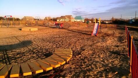 В верхнемамонском селе на средства ТОС установили детскую площадку