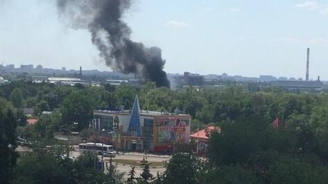 В Воронеже на кладбище произошло загорание