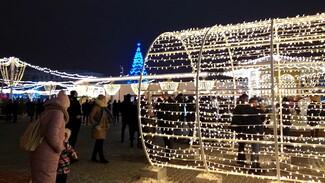 Более 185 тыс воронежцев посетили площадь Ленина в новогодние праздники