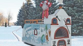 Дед Мороз на самоходной печке поздравил эртильцев со старым Новым годом