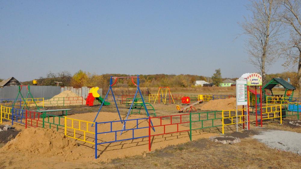 Детская площадка на улице Мира.