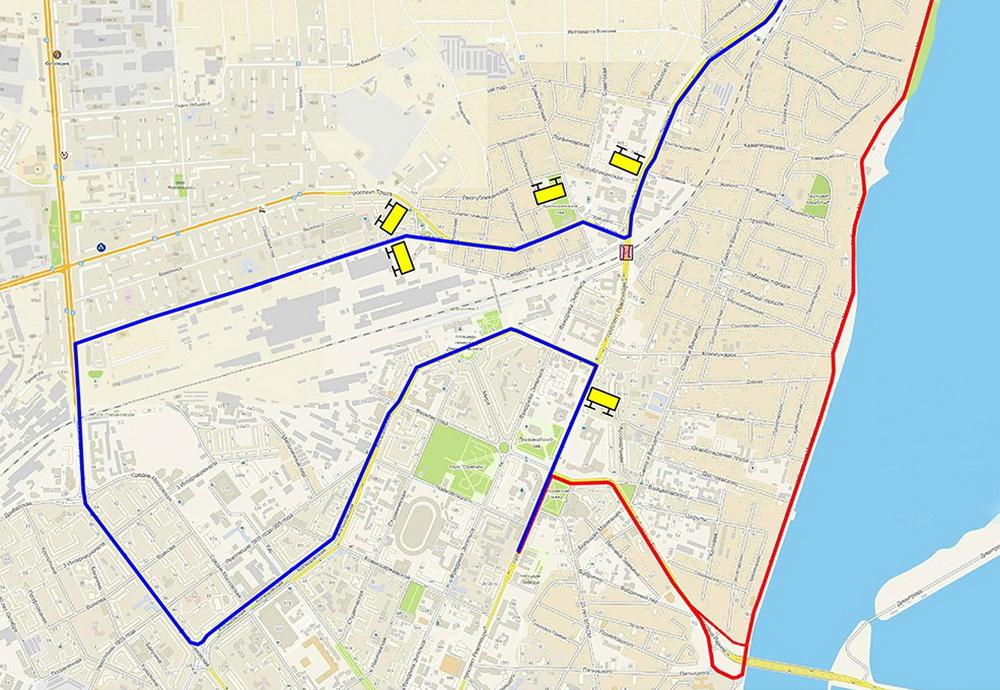 Схема объезда участка