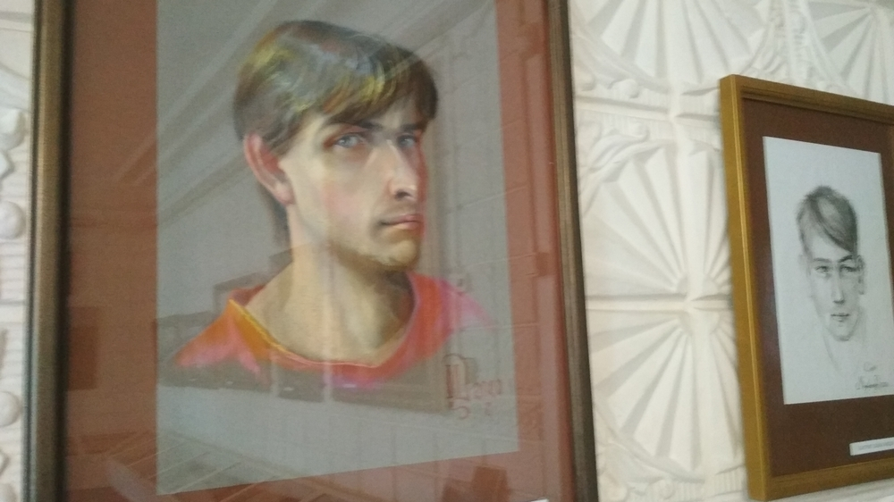Автопортрет художника, выполненный пастелью