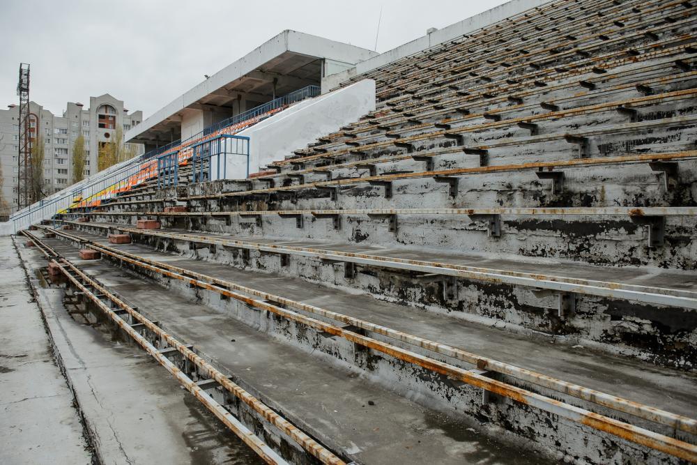 Трибуна стадиона«Факел» в Воронеже