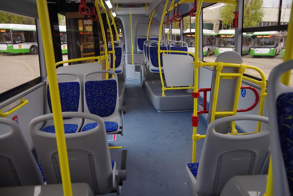 Интерьер новых воронежских автобусов