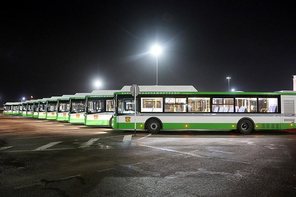 Новые автобусы прибыли в Воронеж