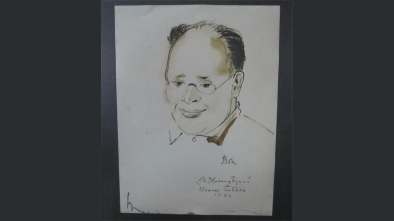 Портрет Исаака Бабеля.