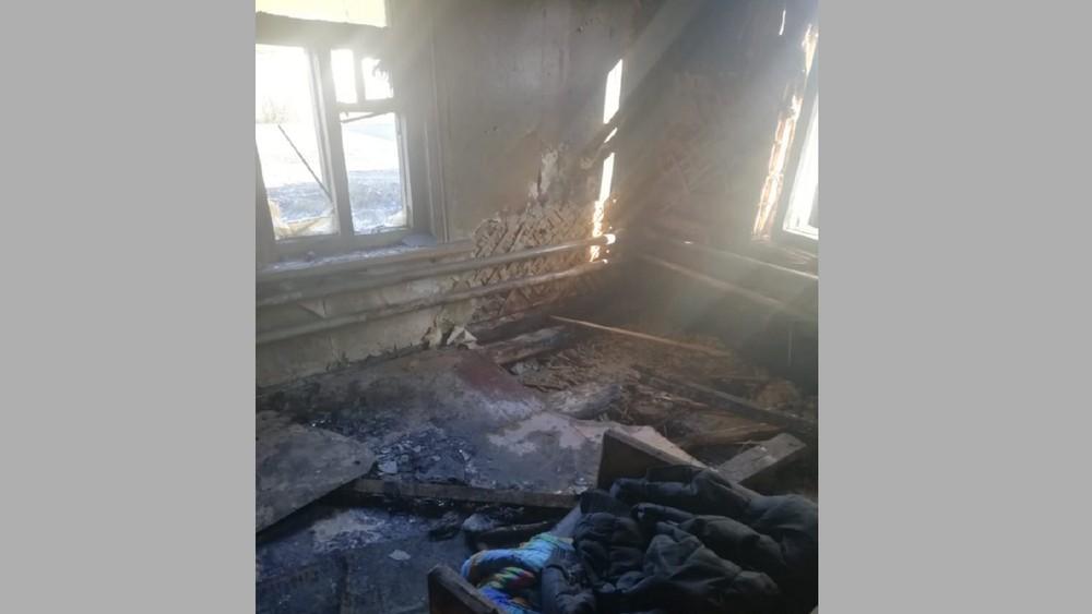 Комната после пожара