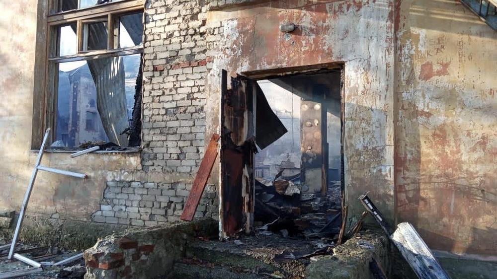 Пожар произошел ночью