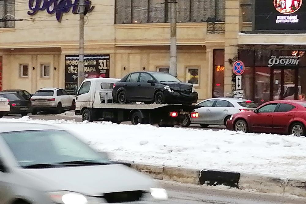 Скользкая дорога в Воронеже