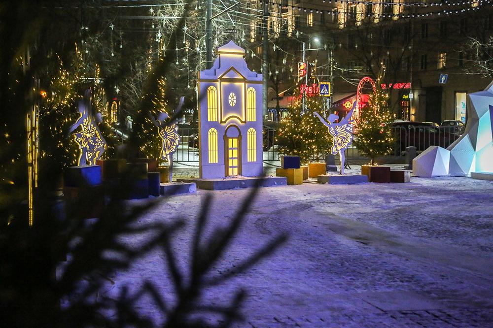 Площадь Ленина в Воронеже в 2020 году