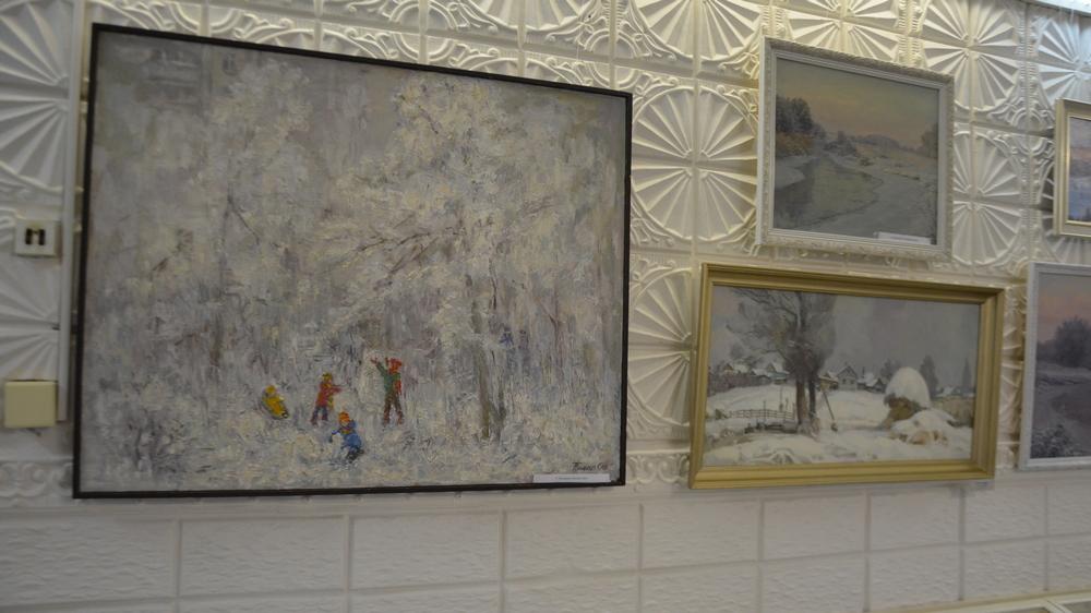 Картины на зимние сюжеты выполненны в разных техниках