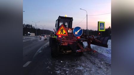 Автогрейдер ДТП трасса М-4 Дон