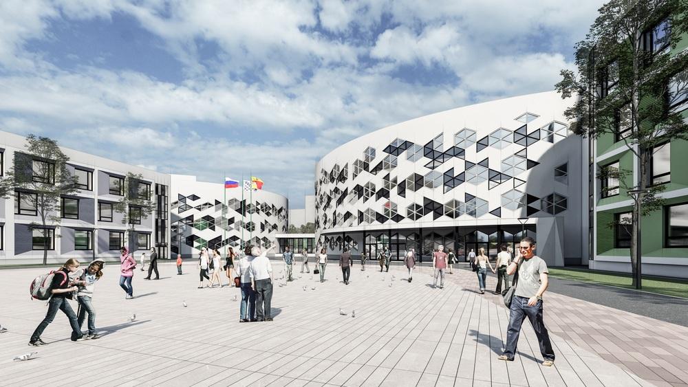 визуализация мегашколы на Московском проспекте
